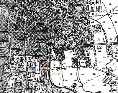 明治43年富山市街図