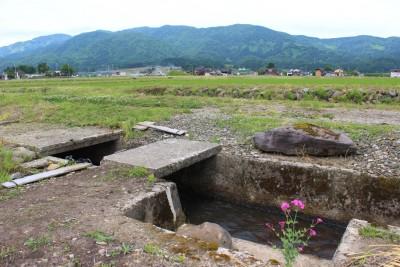 医王山と小坂用水